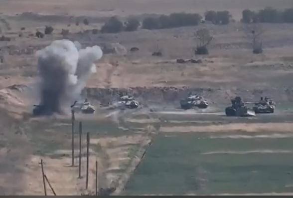 Հայկական զինուժը շարունակում է խոցել ադրբեջանական մարտական տեխնիկաները (տեսանյութ)