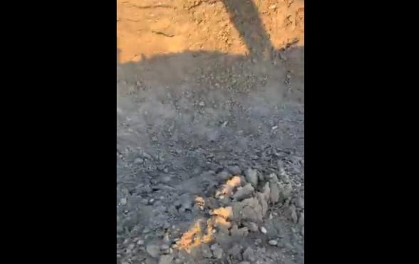 Այս հարվածը հասցվել է գյուղի ջրամբարին