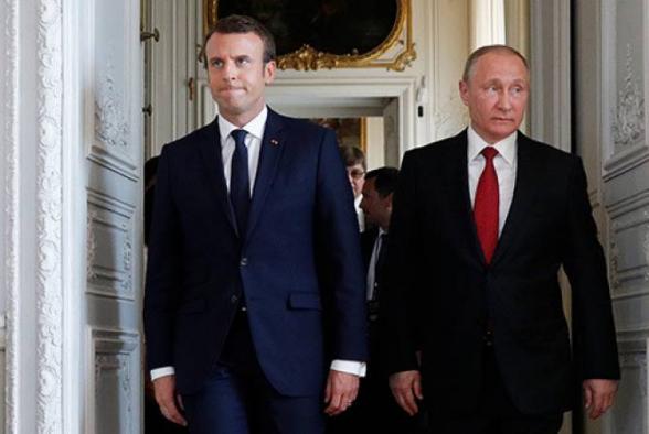 Путин и Макрон подчеркнули отсутствие альтернативы мирному урегулированию Карабахского конфликта
