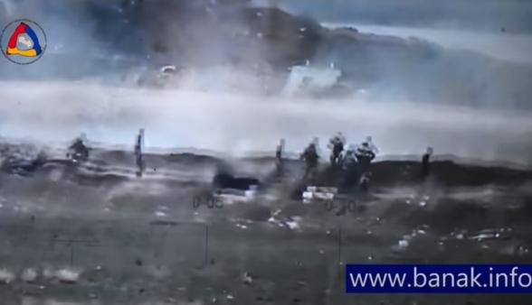 Азербайджанцы бегут со своих позиций и попадают под прицельный огонь (видео)