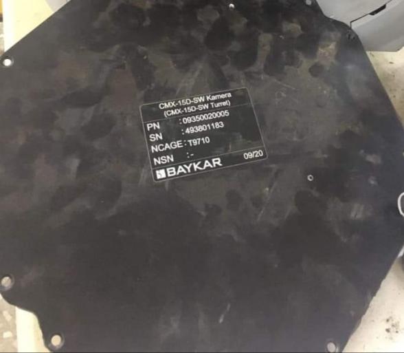 Արցախի ՊԲ կողմից խոցված թուրքական Bayraktar-ի հեռակառավարվող տեսախցիկը արտադրվել է հունիսին՝ Կանադայում. ՊՆ խոսնակ (լուսանկար)