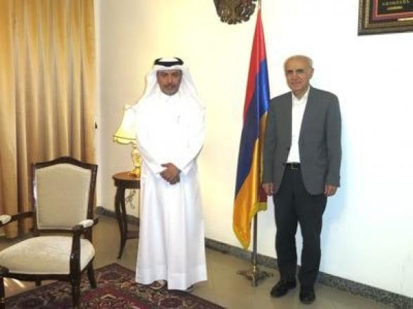 Իրանում Հայաստանի ու Կատարի դեսպանները քննարկել են Արցախի դեմ ադրբեջանական ագրեսիայի հարցը