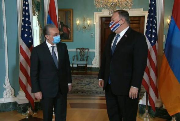 В Вашингтоне состоялась встреча Зограба Мнацаканяна с Майком Помпео (видео)