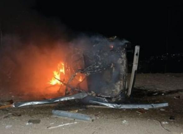Ստեփանակերտի հրթիռակոծությունից այրվել է ավտոմեքենա, ավերվել շենքեր, վնասվել թաղամասը սնուցող գազատարը. Արցախի ԱԻՆ