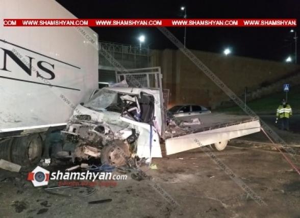 Արմավիր քաղաքում «կարմիր կամրջի» մոտ բախվել են DAF և Ford Transit բեռնատարները. կա 1 զոհ