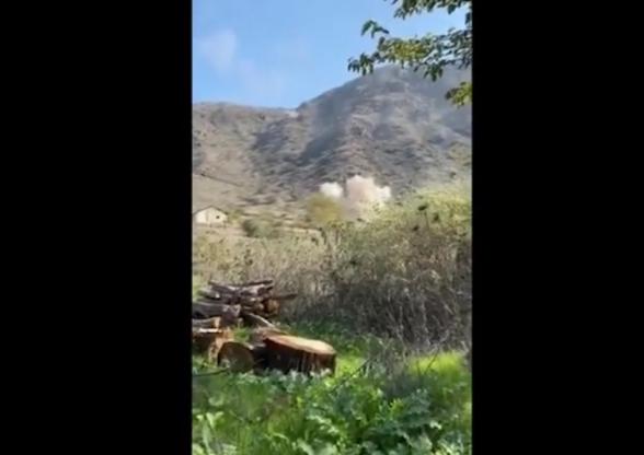 Кадры обстрела противником территории Армении