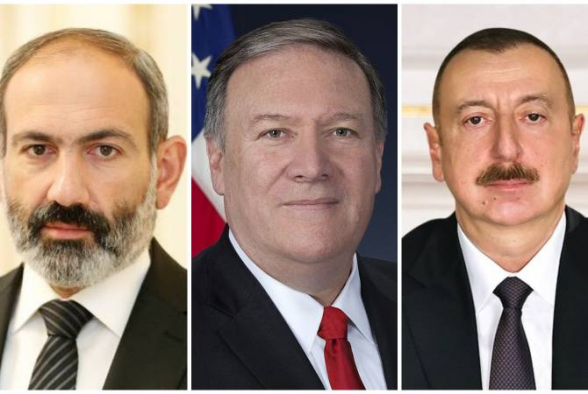 Помпео обсудил по телефону ситуацию в Карабахе с главами Армении и Азербайджана