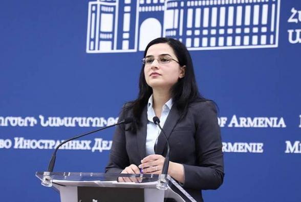 Թուրքիայի ՊՆ-ի պնդումները, թե իբր Հայաստանին և Արցախին աջակցում են օտարերկրյա վարձկաններ, արտացոլում են այդ երկրի ռազմաքաղաքական ղեկավարության պատվազուրկ էությունը․ ՀՀ ԱԳՆ խոսնակ