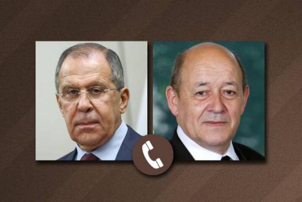ՌԴ և Ֆրանսիայի արտգործնախարարները քննարկել են ԼՂ հակամարտության գոտում իրավիճակի զարգացումը