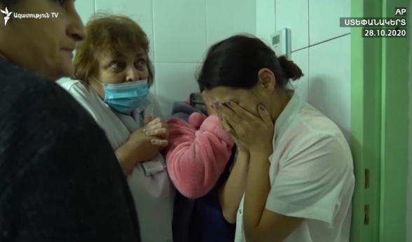 Момент обстрела больницы Степанакерта: кадры изнутри здания