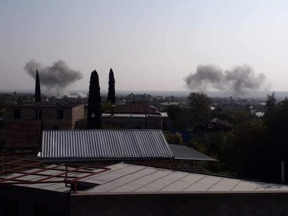 Մարտակերտ քաղաքի վրա թշնամին կիրառել է ռազմական ավիացիա (լուսանկար)