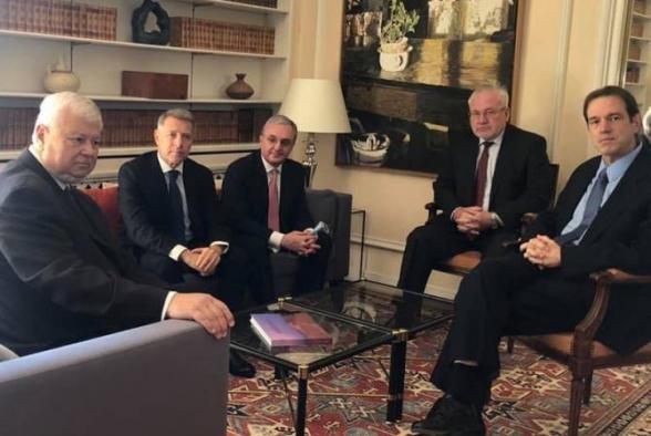 В Женеве проходит встреча Зограба Мнацаканяна и сопредседателей Минской группы ОБСЕ