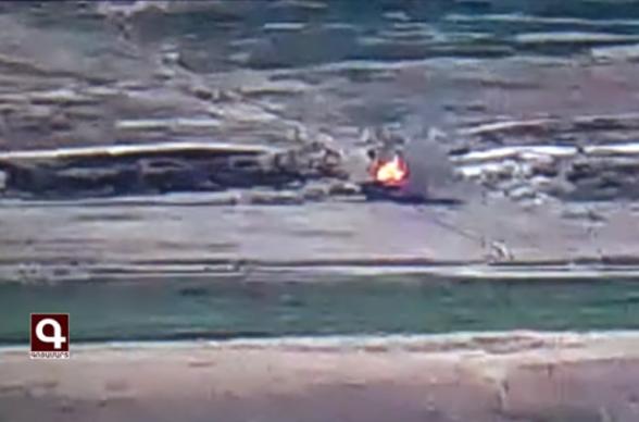 Армянские войска подбили 1 танк, 1 БМП и 5 беспилотников противника