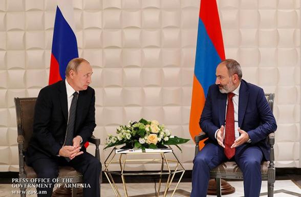 Никол Пашинян направил письмо Владимиру Путину