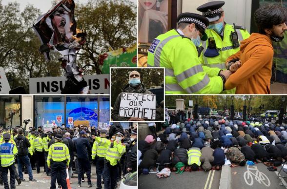 Մենք չենք հանդուրժի...Լոնդոնում ոստիկանությունը բախվել է մուսուլման ցուցարարների հետ