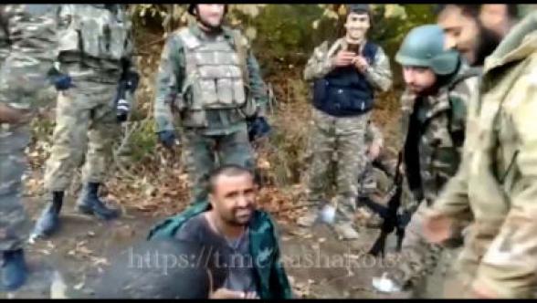 Опубликовано видео задержания сирийского боевика в Арцахе