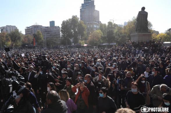 Հանրահավաք Ազատության հրապարակում՝ Նիկոլ Փաշինյանի հրաժարականի պահանջով (ուղիղ)