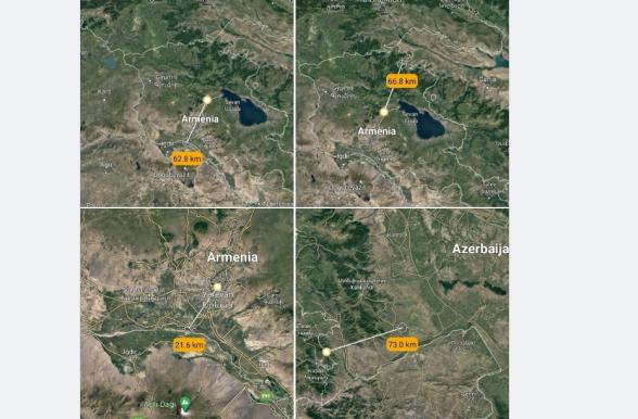 Երևանի Հանրապետության հրապարակից մինչև Թուրքիայի սահման 22 կմ է․ վերջին պատերազում թշնամին առաջնագծից խորացավ 73 կմ