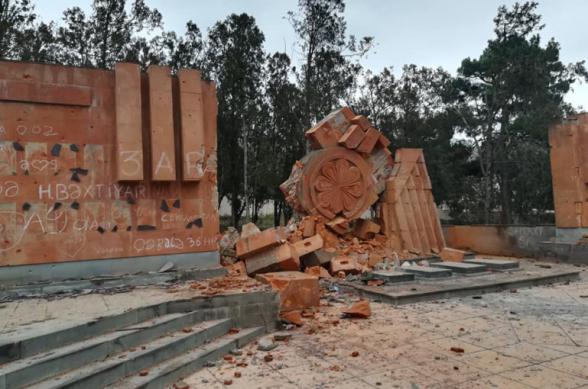 Ադրբեջանցիները պղծել են Թալիշում գտնվող հայկական հուշարձանները (լուսանկար)