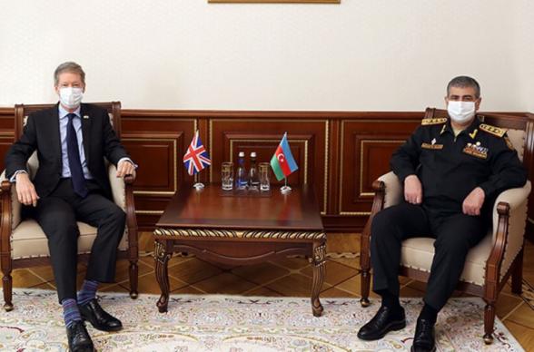 Ադրբեջանում Մեծ Բրիտանիայի դեսպանը Հասանովի հետ հանդիպման ժամանակ խոստացել է «ջանքեր գործադրել ռազմական ոլորտում ադրբեջանա-բրիտանական համագործակցության զարգացման համար»