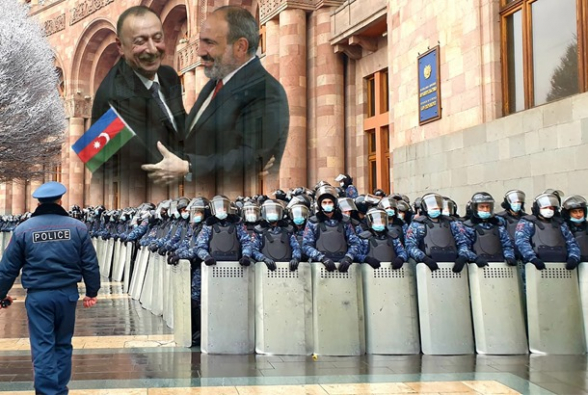 Опоры Никола – Азербайджан и полиция