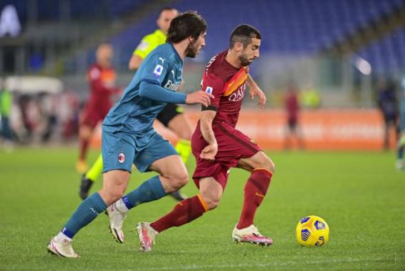 «Рома» уступила «Милану»: Мхитарян отыграл весь матч (видео)
