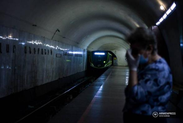 Համավարակի հետևանքով 2020-ին Երևանի մետրոպոլիտենի ուղևորահոսքը կիսով չափ կրճատվել է