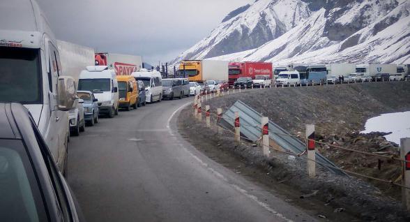 Լարսը փակ է բեռնատարների համար․ ռուսական կողմում կա մոտ 270 կուտակված բեռնատար ավտոմեքենա