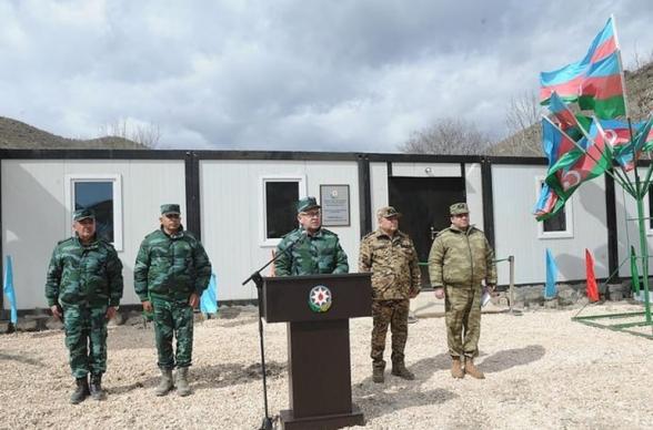 Азербайджан открыл на границе с Арменией новую воинскую часть ГПС