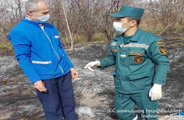 Ոսկեվազ գյուղում հայտնաբերվել է այրված դի