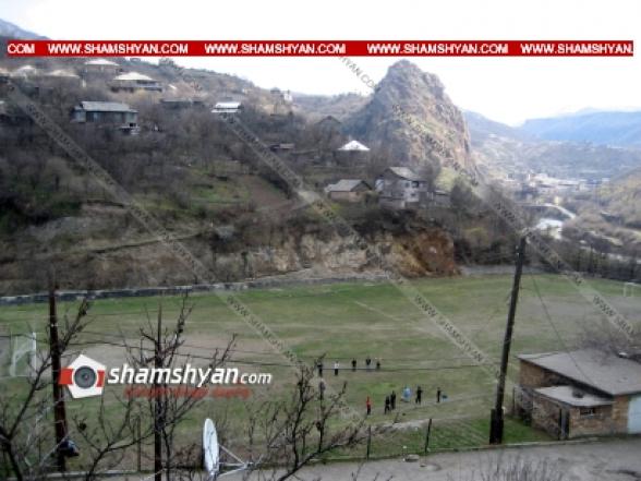 Во время футбольного турнира в городе Туманян прозвучали выстрелы