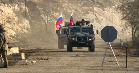 Ռուս խաղաղապահներն ուժեղացված հսկողություն են սկսել Երևան-Ստեփանակերտ ճանապարհին․ «Իրավունք»