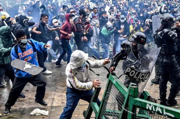 Ցուցարարները փորձել են ներխուժել Կոլումբիայի Կոնգրեսի շենք