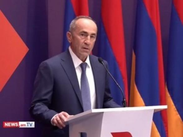 «Будьте уверены, все будет хорошо»: программная речь Роберта Кочаряна о формировании альянса «Армения» (видео)