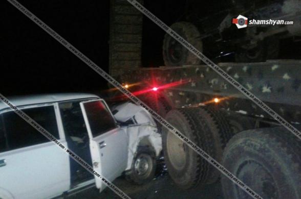 Գեղարքունիքի մարզում 07-ը մխրճվել է Պաշտպանության նախարարությանը պատկանող բեռնատարի մեջ, կան վիրավորներ