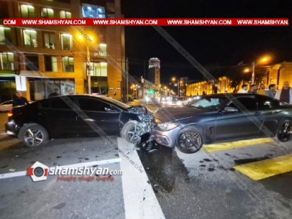 Երևանում Ֆրանսիայի դեսպանատան դիմաց ճակատ-ճակատի բախվել են BMW-ն ու KIA-ն