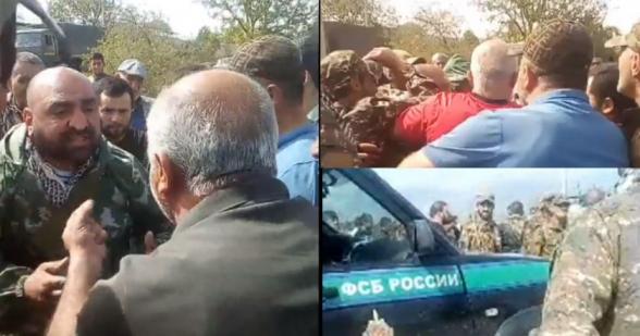 Защищавшие позиции Сюника добровольцы перекрыли межгосударственную дорогу Горис-Арцах (видео)