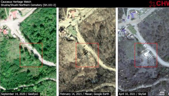 Древнее армянское кладбище к северу от Шуши частично разрушено – CHW