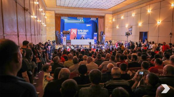 Предвыборная встреча блока «Армения» в Иджеване (видео, фото)