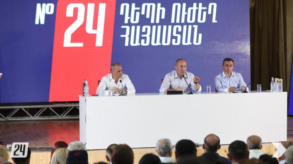 «Հայաստան» դաշինքի հանդիպումը Մասիսում (տեսանյութ, լուսանկար)