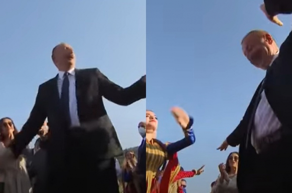 Алиев станцевал в Шуши (видео)