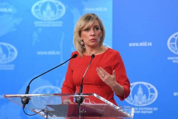 Захарова о визите Эрдогана в Шуши: «Неправильно смешивать вопрос Карабаха и отношения Баку с третьими странами»