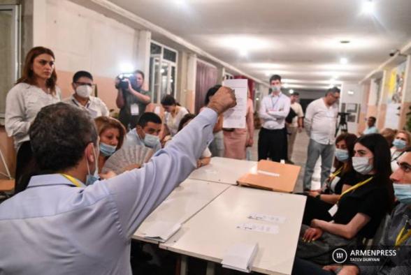 Все бюллетени подсчитаны: «Гражданский договор» – 53,92%, блок «Армения» – 21,04%