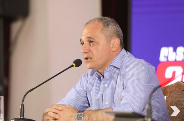 Блок «Айастан» не признает результаты голосования и обратится в КС – Ваге Акопян