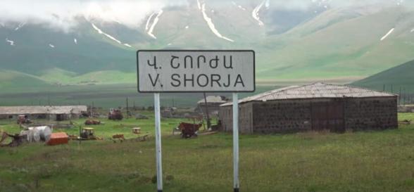 Ադրբեջանական զինծառայողները կրակում են հենց Վերին Շորժա և Սարատեղի կոչվող բնակավայրերի ուղղությամբ