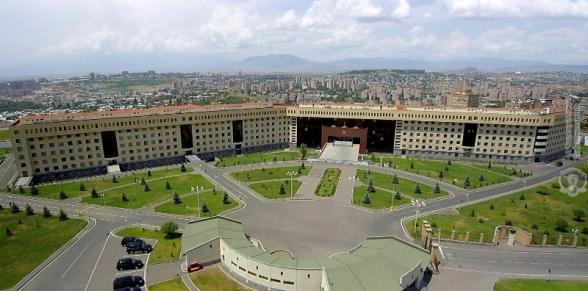 ՀՀ ՊՆ-ն հաստատում է ՌԴ-ի միջնորդությամբ հրադադարի պայմանավորվածության լուրը