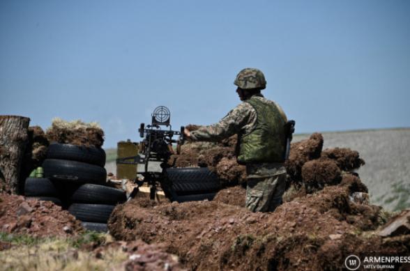 Азербайджанские ВС вновь открыли огонь по армянским позициям в Гегаркунике: ранен солдат