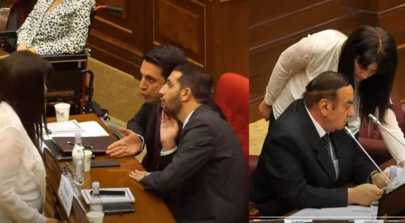 Ален Симонян и Рубен Рубинян манипулируют ведущим заседание НС Хасановым? (видео)