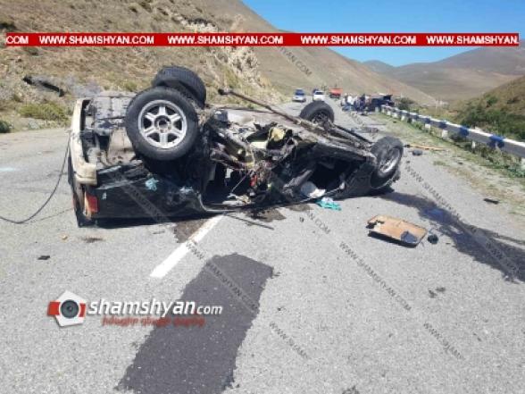Գեղաքունիքի մարզում բախվել են Mercedes-ն ու BMW-ն, BMW-ն գլխիվայր շրջվել է․ վիրավորներից մեկին փորձում են Սանավիացիայի ուղղաթիռով տեղափոխել Երևան