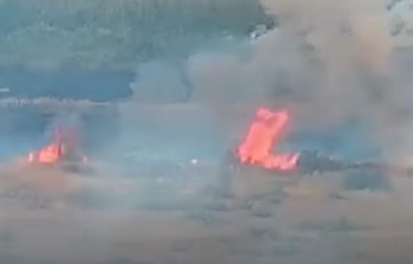 Ադրբեջանցիների կրակոցների հետևանքով Երասխում հրդեհ է բռնկվել